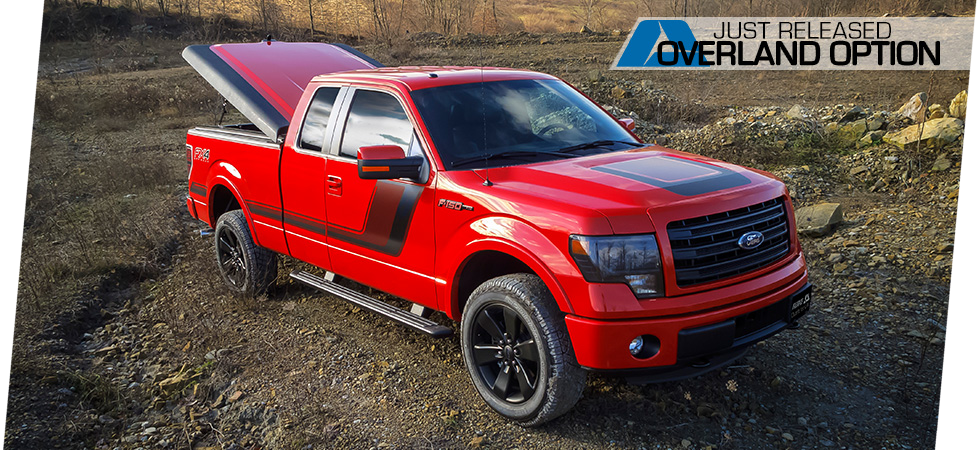Introducing the Overland Option available for select tonneau cover models.