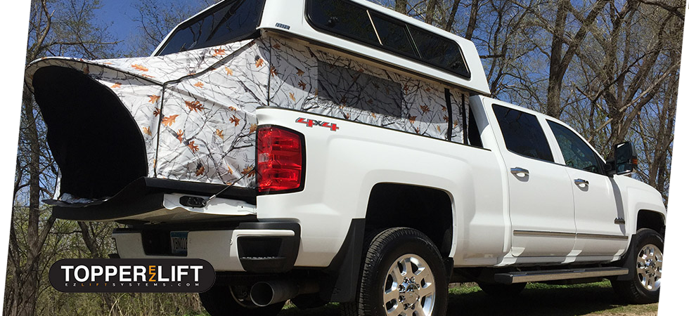 Get more out of your truck with our newest accessory the TopperEZLift.